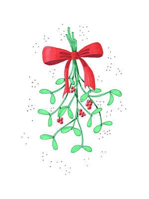 Painting - Mistletoe by Masha Batkova