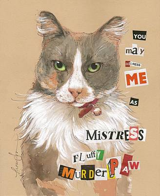 Mistress Fluffy Murderpaw Art Print by Tracie Thompson