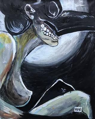 Wall Art - Painting - Mistress Of Poveglia, Act I by Mel Dawdy