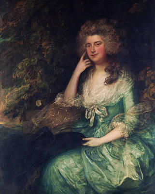 Woman Painting - Mrs William Tennant by Thomas Gainsborough