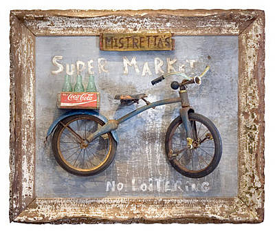 Bike Sculpture - Mistretta's by Benjamin Bullins
