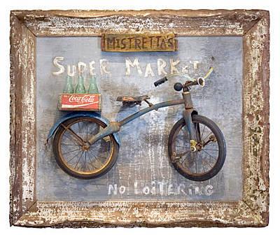 Bike Sculpture - Mistretta's by Benjamin Bullins