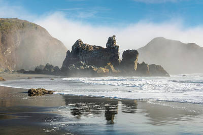 Photograph - Mists And Oregon Seastacks by Greg Nyquist