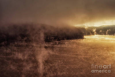 Photograph - Mists Of Morning Summersville Lake by Thomas R Fletcher