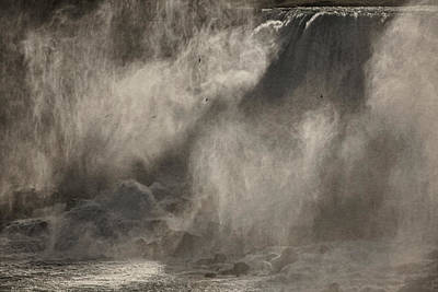 Photograph - Mists Of Niagara Bw by Theo O'Connor