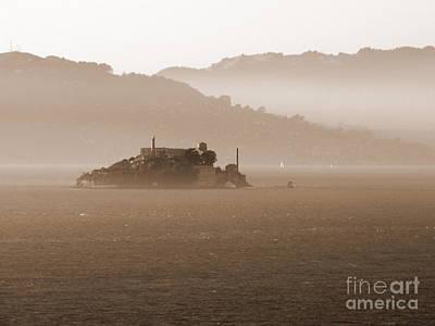 Misty Alcatraz Art Print