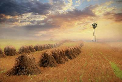 Photograph - Misty Amish Sunrise by Lori Deiter