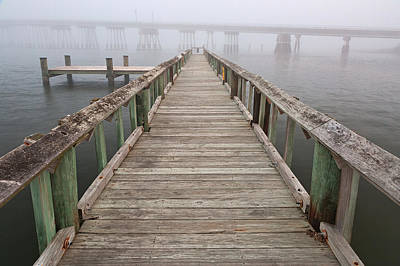 Photograph - Misty Assateague Pier by Nicolas Raymond