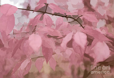 Digital Art - Misty Autumn Leaves by Judy Palkimas