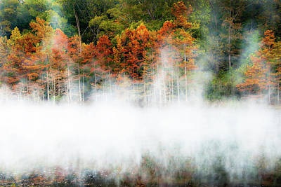 Photograph - Misty Autumn Morning On Beaver's Bend by Tamyra Ayles