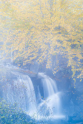 Photograph - Misty Autumn Waterfall by Alan L Graham