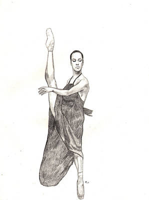 Drawing - Misty Ballerina Dancer  by Lee McCormick