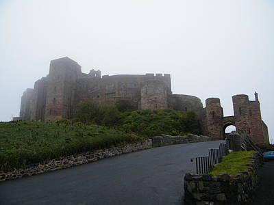 Photograph - Misty Bamburgh Castle by JLowPhotos