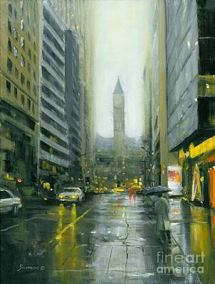 Painting - Misty Bay Street by Michael Swanson