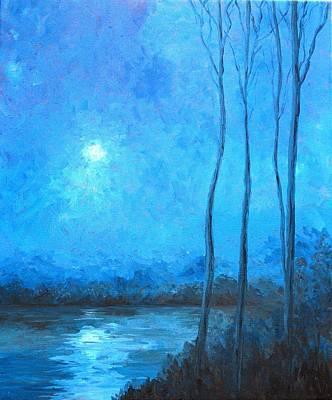 Misty Blue Art Print by Beth Maddox
