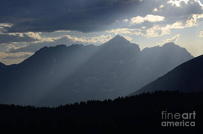 Photograph - Misty Blue Canadian Rocky Mountains by Bob Christopher