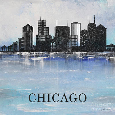 Painting - Misty Blue-chicago by Jean Plout