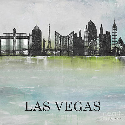 Painting - Misty Blue-las Vegas by Jean Plout