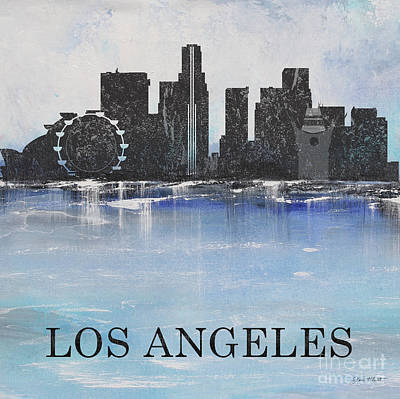 Painting - Misty Blue-los Angeles by Jean Plout