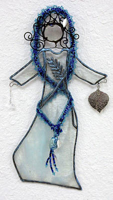 Glass Art - Mystic Blue by Maxine Grossman