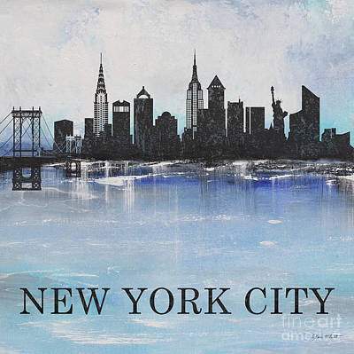 Painting - Misty Blue-new York by Jean Plout