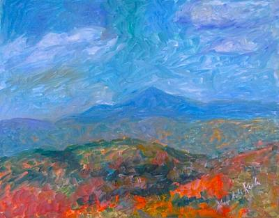Painting - Misty Blue Ridge Autumn Stage One by Kendall Kessler