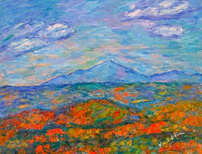 Painting - Misty Blue Ridge Autumn by Kendall Kessler