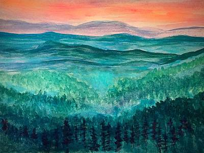 Painting - Misty Blue Ridge Valley by Anne Sands