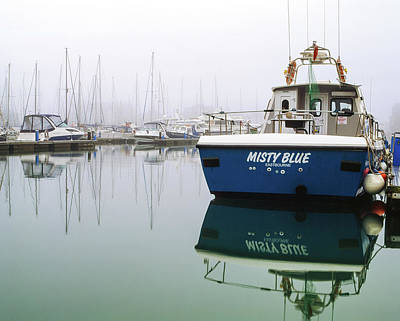 Photograph - Misty Blue, Sovereign Harbour, Eastbourne by Will Gudgeon