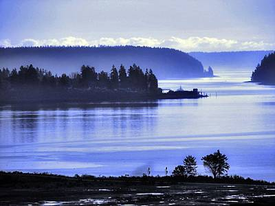 Photograph - Misty Blue Steilacoom by Chris Anderson