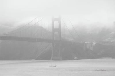 Misty Bridge Art Print by Donna Blackhall