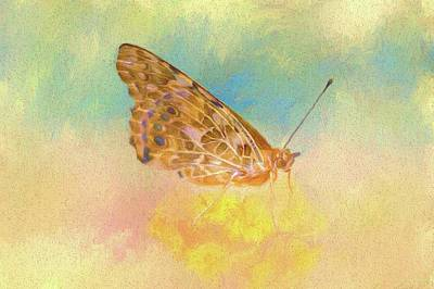 Painting - Misty Butterfly by Ches Black