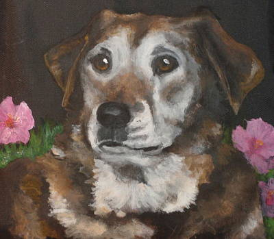 Dog Close-up Painting - Misty by Carol Russell