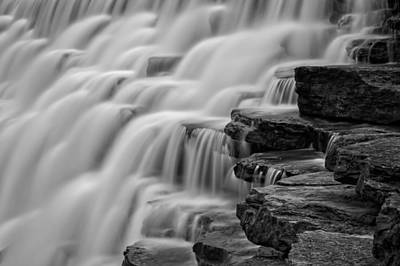 Devils Den Photograph - Misty Cascade by James Barber