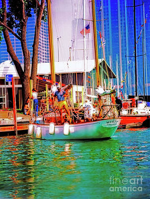 Photograph - Misty Chicago  Chicago Yacht Club by Tom Jelen