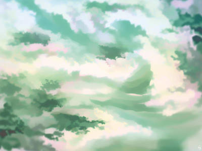 Misty Clouds 1 Art Print