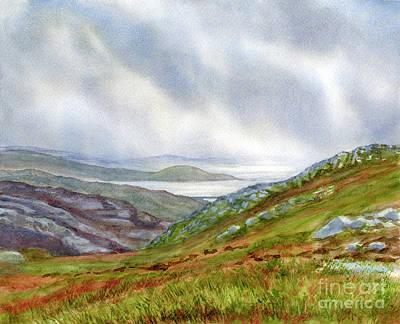 Scotland Painting - Misty Coast Southwest Scotland by Sharon Freeman
