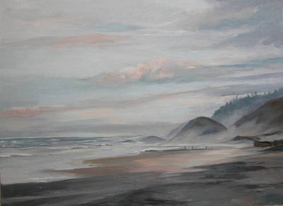 Painting - Misty Coast by Synnove Pettersen