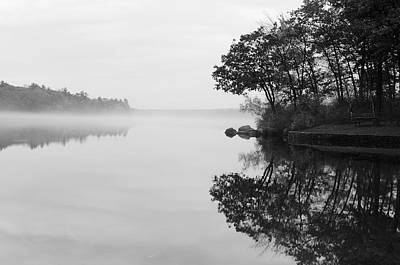 Inner Self Photograph - Misty Cove by Luke Moore