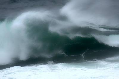 Photograph - Misty Crashing Waves by Adam Jewell