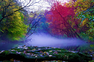 Wissahickon Creek Photograph - Misty Creek by Bill Cannon