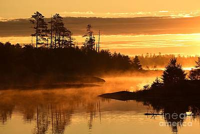Photograph - Misty Dawn At Gabbro Lake by Larry Ricker