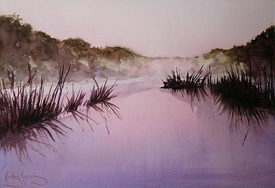 Painting - Misty Dawn by Kathy  Karas