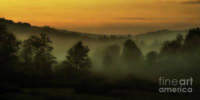 2 Solitudes Photograph - Misty Dawn Spring Morning by Thomas R Fletcher