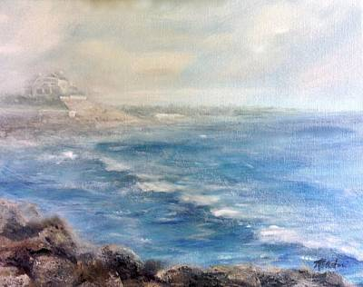 Painting - Misty East Beach by Anne Barberi