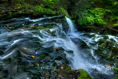 Photograph - Misty Falls - 2976 by Paul W Faust -  Impressions of Light