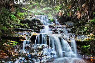 Rainforest Photograph - Misty Falls by Az Jackson