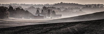 Photograph - Misty Farm by David Heilman