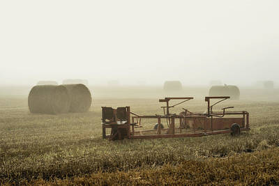 Photograph - Misty Field by Jeremy Lavender Photography