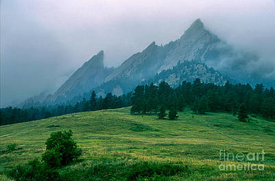 Photograph - Misty Flatirons by Greg Summers